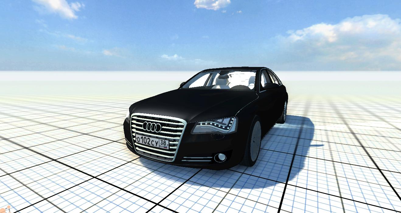 Скачать мод машину Audi A8 для BeamNG Drive