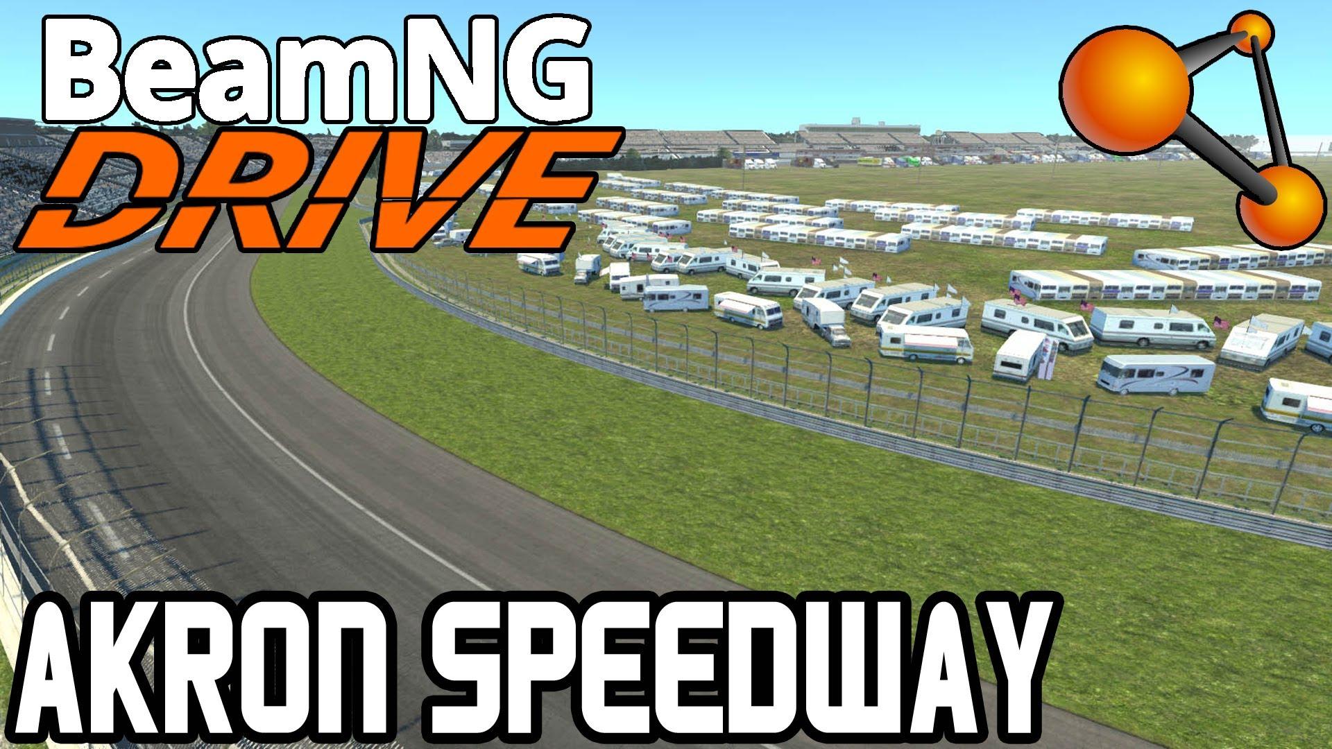 Скачать мод карта Akron Motor Speedway для BeamNG Drive