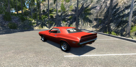 Скачать мод Dodge Challenger для BeamNG Drive