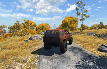 Скачать мод машину Jeep Cherokee Trail для BeamNG Drive