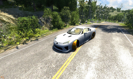 Скачать мод Lexus LF-A для BeamNG Drive