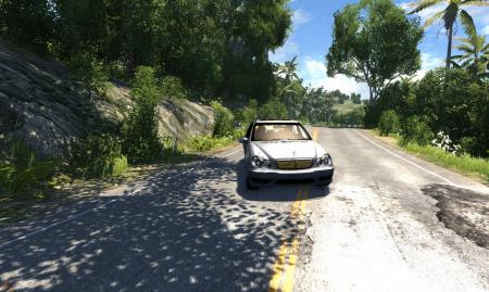 Скачать мод машину Mercedes Benz C32 для BeamNG Drive