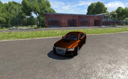 Скачать мод машину Audi A8 Sport для BeamNG Drive