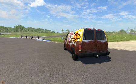 Скачать мод автобус Van для BeamNG Drive