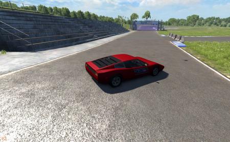 Скачать мод старая красная Ferrari для BeamNG Drive