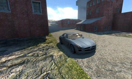 Скачать мод Mercedes Benz SLS AMG для BeamNG Drive