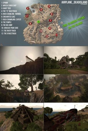 Скачать мод карта Airplane Dead Island для BeamNG Drive