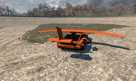 Скачать мод летающая машина-самолет для BeamNG Drive