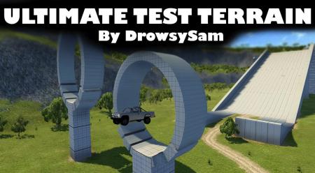 Скачать мод карта Ultimate Test Terrain для BeamNG Drive