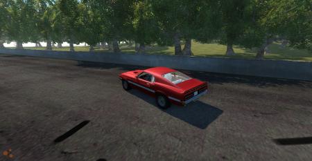 Скачать мод машина Ford Mustang Shelby GT500 для BeamNG Drive
