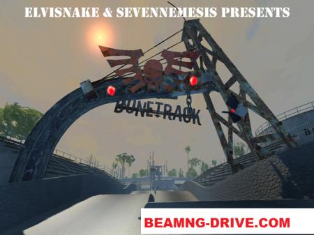 Скачать мод карта Bone Track для BeamNG Drive