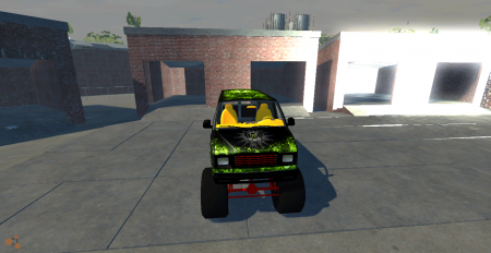 Скачать мод машину с большими колесами для BeamNG Drive
