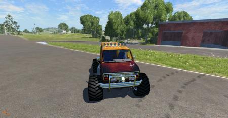 Скачать мод машину Ford E250 Monster для BeamNG Drive