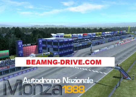 Скачать мод карта Monza 1988 для BeamNG Drive