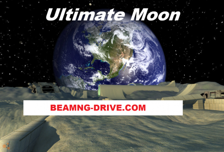 Скачать мод карта Ultimate Moon для BeamNG Drive