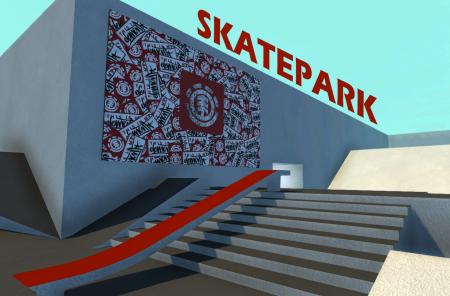 Скачать мод карта Skatepark для Скейтборда BeamNG Drive