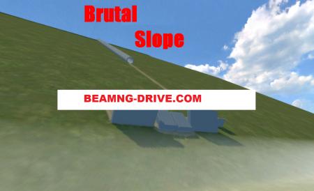 Скачать мод карта Brutal Slope для BeamNG Drive