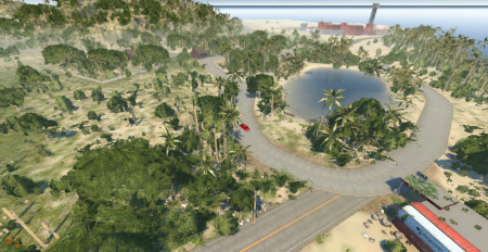 Скачать мод карта WIP Beach для BeamNG Drive