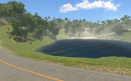 Скачать мод карта Valley Roads and Mountains для BeamNG Drive