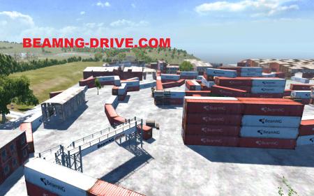 Скачать мод карта Industrial Racetrack для BeamNG Drive