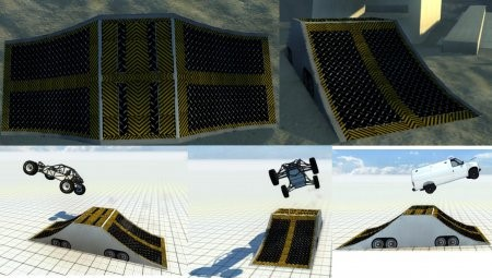 Скачать мод DSC Ramp (Drivable Ramp) для BeamNG Drive