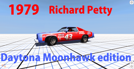 Скачать мод 1979 Richard Petty Daytona car для BeamNG Drive