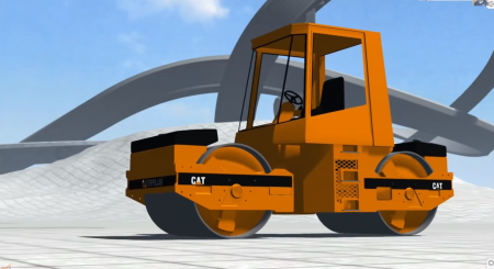 Скачать мод машина Caterpillar BKL Steam Roller для BeamNG Drive