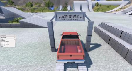 Скачать мод карта Ultimate Test Terrain V4 для BeamNG Drive