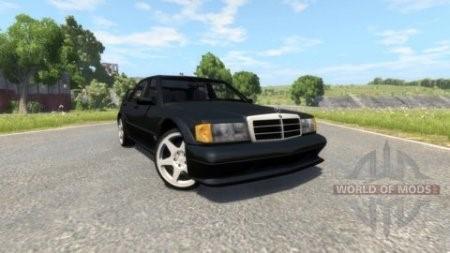 Скачать мод Mercedes-Benz 190E Evolution II 2.5 1990 для BeamNG Drive
