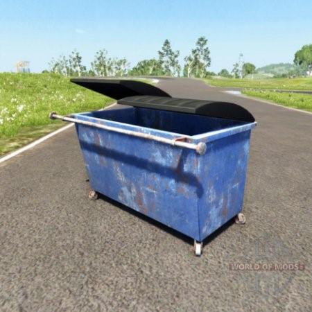 Скачать мод мусорный бак для BeamNG Drive