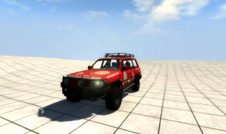 Скачать мод Toyota Land Cruiser 100 для BeamNG Drive