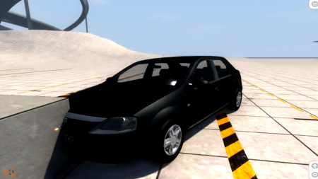 Скачать мод Dacia Logan 2008 v2.0 для BeamNG Drive
