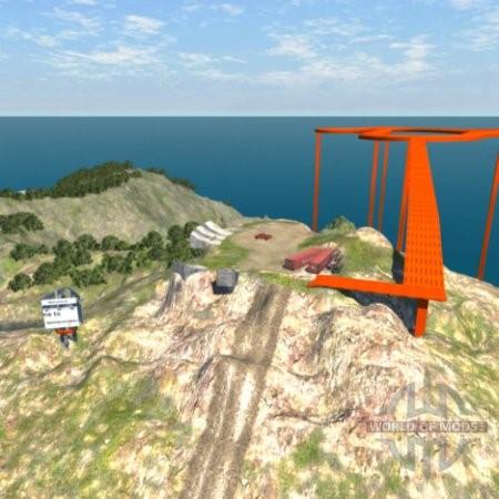 Скачать мод карта Новая вершина для BeamNG Drive