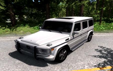 Скачать мод Mercedes Benz G500 для BeamNG Drive