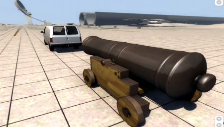 Скачать мод Old Cannon для BeamNG Drive