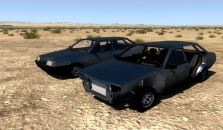 Скачать мод VAZ 21099 Black Edition для BeamNG Drive
