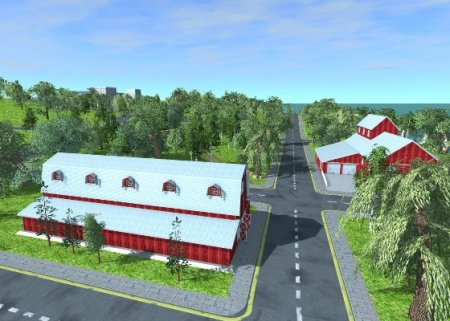 Скачать мод карта Small Town для BeamNG Drive