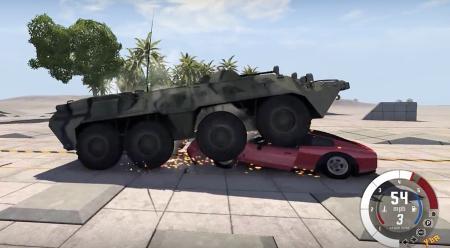 Скачать мод BTR-80 для BeamNG Drive