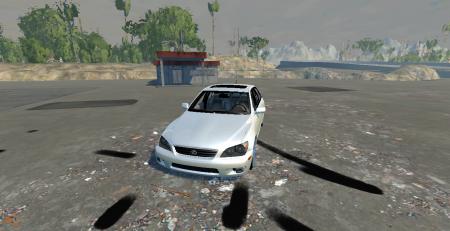 Скачать мод машина Lexus IS300 для BeamNG Drive