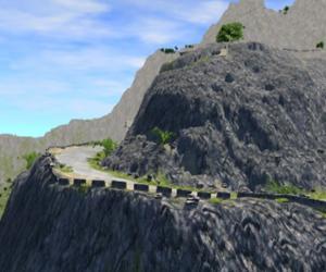 Скачать мод карта Descent road для BeamNG Drive
