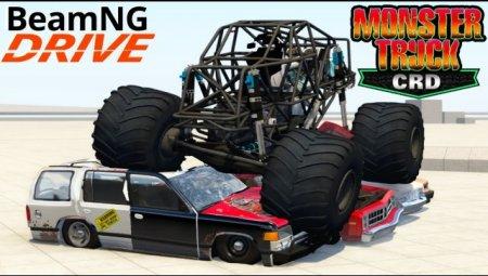 Скачать мод БигФут CRD Monster Truck для BeamNG Drive 0.5.2.1