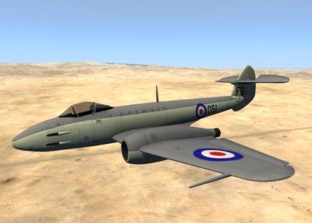 Реактивный ястребок Gloster Meteor Mk. III Alpha для BeamNG Drive 0.4.3.2