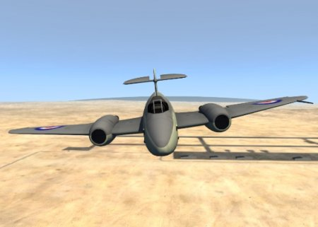 Скачать мод реактивный истребитель Gloster Meteor Mk. III Alpha для BeamNG Drive 0.4.3.2