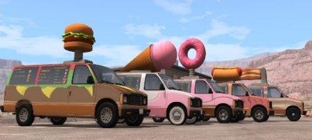 Скачать мод автомобиль Fast Food Vans для BeamNG Drive 0.5.5