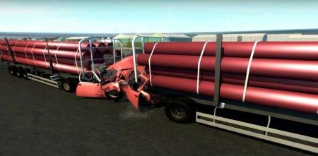 Скачать мод D-15 Full size logging trailer для BeamNG Drive