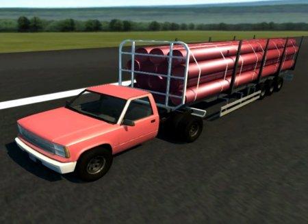 Скачать мод инструмент D-15 Full size logging trailer для BeamNG Drive