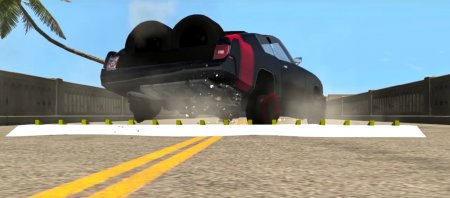 Скачать мод Шипы Spikestrip 4 для BeamNG Drive 0.7+