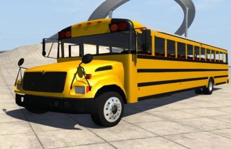 Скачать мод Blue Bird American School Bus v2.1 для BeamNG Drive 0.4.2.0+