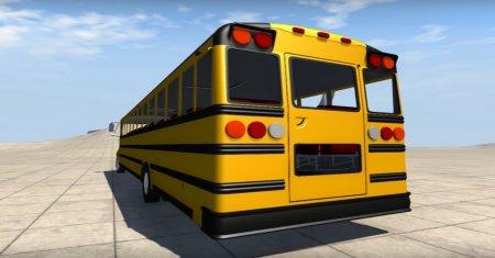 Скачать мод Blue Bird American School Bus v2.1 для BeamNG Drive 0.4.2.0+