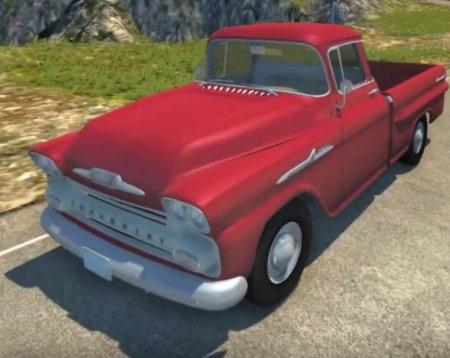 Скачать мод машина Chevrolet Apache 1958 Fleetside для BeamNG Drive